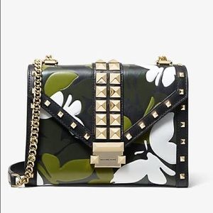 Michael Kors Whitney Large Butterfly Camo Convertible Shoulder Bag